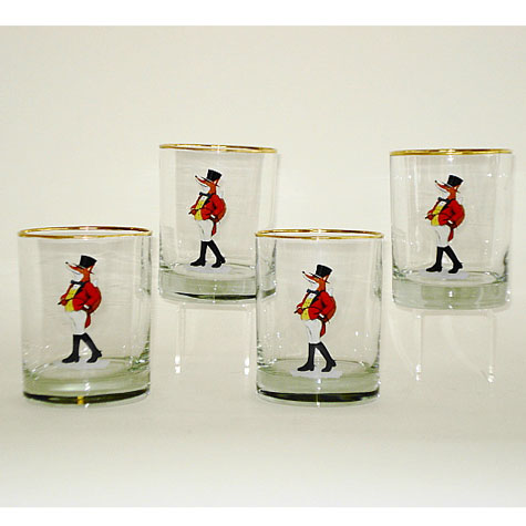 Snooty Fox Double Old Fashion Glasses Set 4
